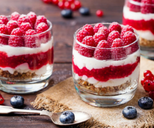 blueberry, raspberry, and cereal image