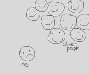 sad, happy, and me image
