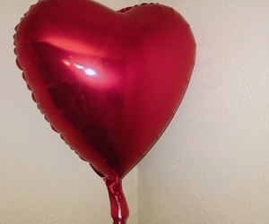 aesthetic, balloon, and heart image