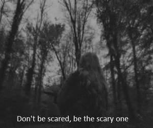black, scary, and Trust No One image