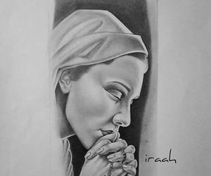 art, bnw, and faith image