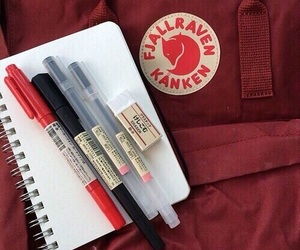 red, aesthetic, and kanken image