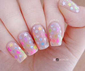 confetti, happy new year, and nail art image