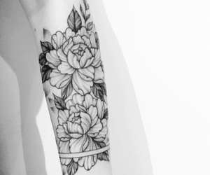 flowers, love it, and tattoo image