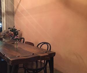 peach, peachy, and wall image