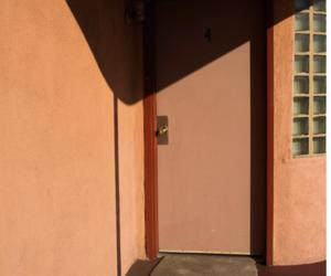 building, door, and peach image