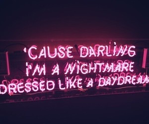 quotes, neon, and pink image