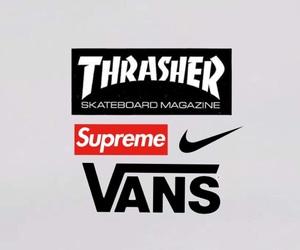 nike, vans, and thrasher image