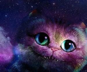 alice in wonderland, magia, and gato de cheshire image