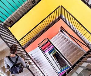 colorful, staircase, and colors image