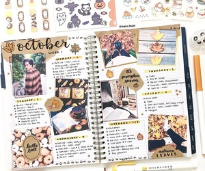 fall, stickers, and study image