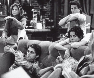 b&w, tv, and friends image
