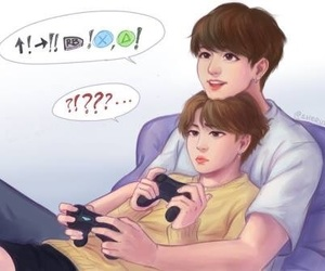 video games, bts, and jimin image