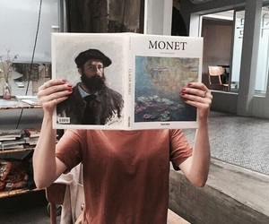 art, monet, and theme image