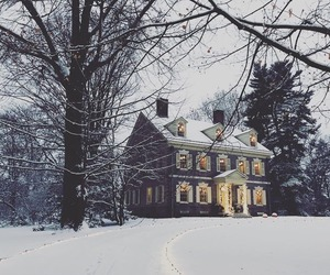 blue, house, and snow image