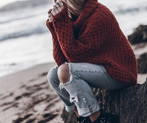 fashion, jeans, and jumper image