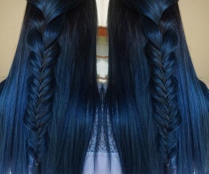 blue, braid, and hair image