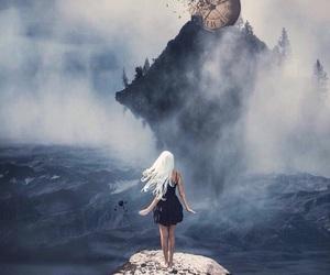 blonde girl, clock, and magic image