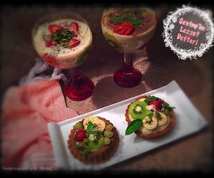 food, pie, and puding image