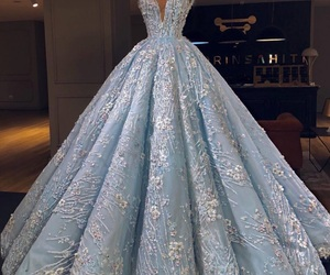 dress, blue, and fashion image