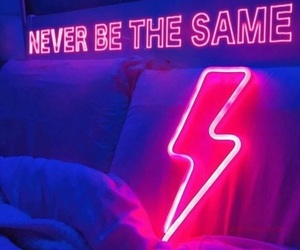 neon, light, and never be the same image