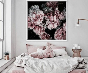 bedroom, interior, and pink image