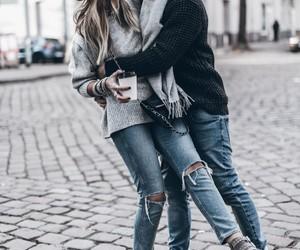 couple, levis, and lové image