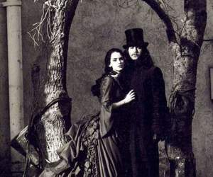 black and white, vampire, and couple image