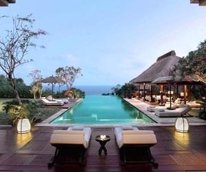 pool, luxury, and bali image