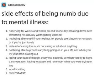 alone, depression, and side effects image