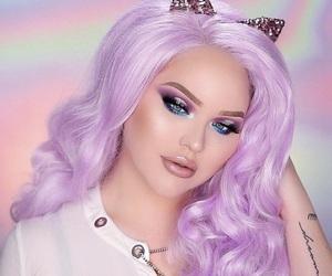 cat ears, light purple, and wig image