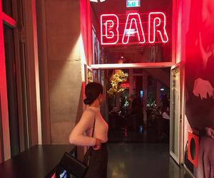 bar, light, and neon image