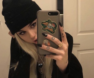 girl, maggie lindemann, and blonde image
