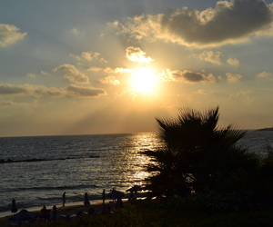 sunset and paphos image