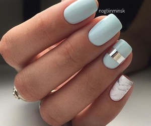 nails, blue, and marble image