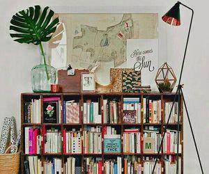 book, interior, and decor image
