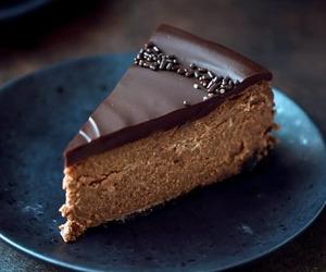 cheesecake, chocolate, and dessert image