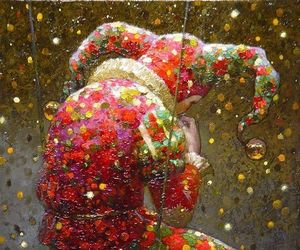 art, clown, and colour image
