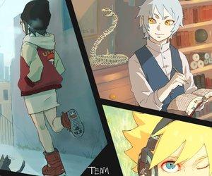 naruto, uzumaki, and konohamaru sarutobi image