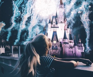 disney, disneyland, and fireworks image