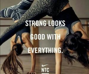 girl, nike, and workout image