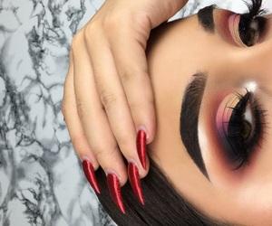 acrylic, nails, and eyelashes image