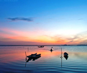 asia, sunset, and travel image
