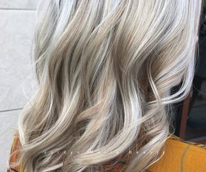 blonde hair, hair, and ombre hair image