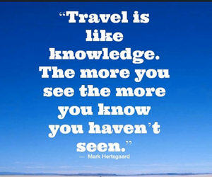 knowledge, see, and travel image