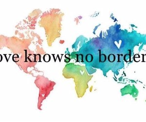 love, world, and borders image