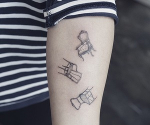 tattoo, chairs, and tat image