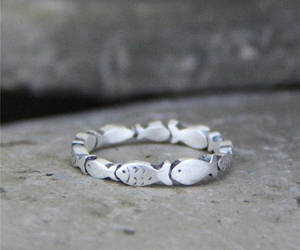 etsy, rings for women, and fish ring image