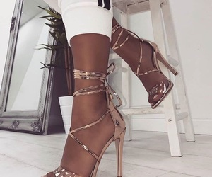 bronze, gold, and heels image