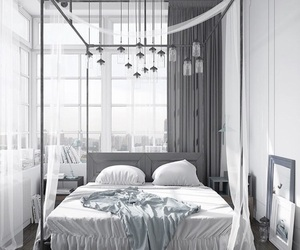 bedroom, black, and interior image